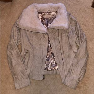 GUESS - Leather and faux fur jacket
